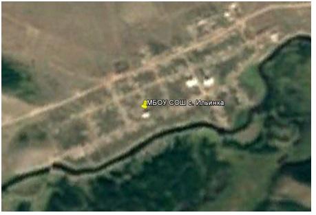 Местоположение школы на карте села
